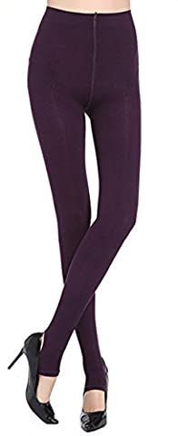 Womens 520D Tights Stripe Stirrup Pantyhose Candy Multi-color Dance (One Size, Dark Purple) - Opaque Stirrup Tights