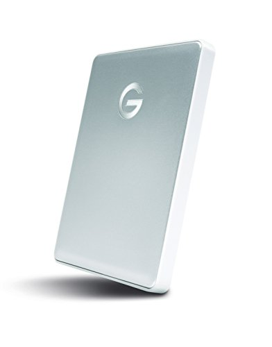 (G-Technology 4TB G-Drive Mobile USB-C (USB 3.1 Gen 1) Portable External Hard Drive, Silver- 0G10348)