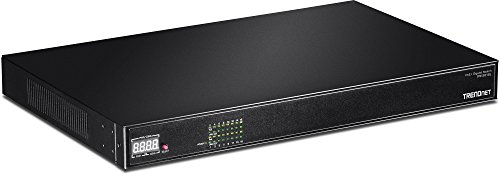 TRENDnet 16-Port Gigabit Ethernet 220 Watt PoE+ AV Switch, 16 x 10/100/1000 Mbps Gigabit Ports, 32 Gbps Switching Capacity, Rear Panel Ports, TPE-3016L by TRENDnet