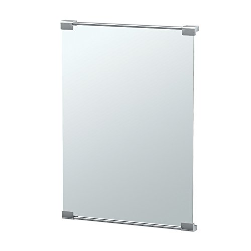 Gatco 1521 Large Fixed Mount Decor Mirror, Chrome