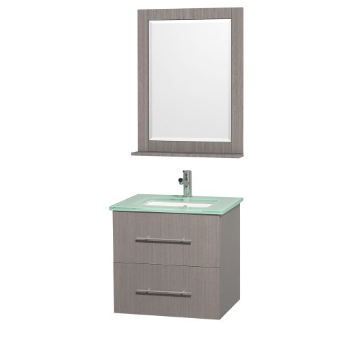Cheap  Wyndham Collection Centra 24 inch Single Bathroom Vanity in Grey Oak with..