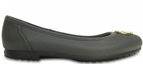 Disco Crocs Marin Colorlite Flat W Damen Graphite / Gold W7.5 / 38 Eu