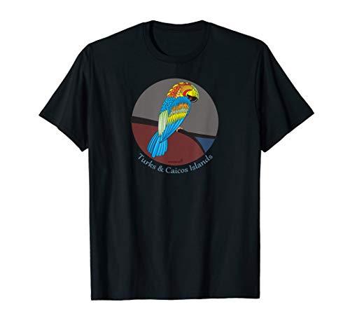 Turks and Caicos Parrot Tshirt Womens, Mens, Kids ()