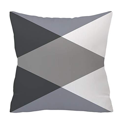 Sofa Pillow Till,Polyester Pillowcase Cushion Cover Square Pillowcase Home Decoratio,Sofa Pillow Till,J,Free ()