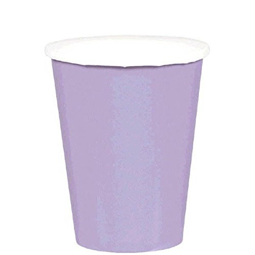 Party Ready Disposable Paper Cups Tableware, Lavender, Paper , 9 Ounces, Pack of 20