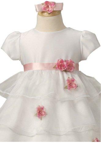 KID Collection White Infant Flower Girl Wedding Dress Size M