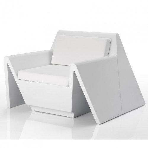Vondom Rest Sessel, Weißszlig; matt mit Sitzpolster
