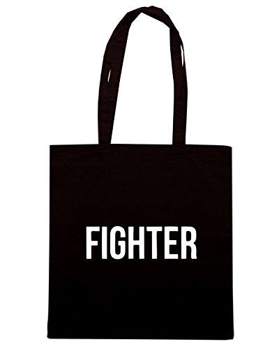 T-Shirtshock - Bolsa para la compra OLDENG00495 fighter Negro
