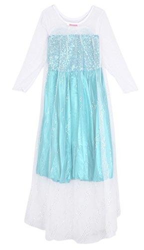 Eyekepper Traje de Cosplay de Impresión Brillante Vestido de Las Chicas de Edad 3-7 Años Colorido