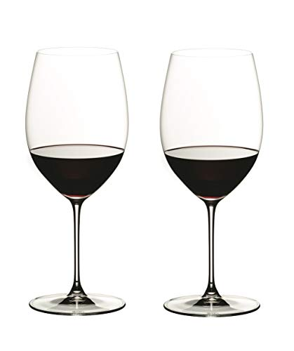 Riedel 6449/0 Veritas Cabernet/Merlot Wine Glasses, Set of 2, Clear