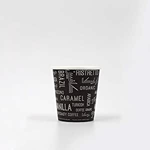 Disposable Paper cups with Coffee Words Artwork - Single Wall 4 ounces - 1000 pieces