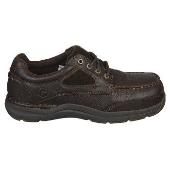 Rockport Mens Brown Leather Casual Boat Shoes Sea Master Comp Toe 10.5 M - Rockport Women Casual Oxfords