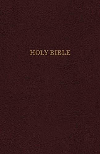 KJV, Reference Bible, Personal Size Giant Print, Bonded Leather, Burgundy, Thumb Indexed, Red Letter Edition, Comfort Print: Holy Bible, King James - Bonded Index Leather