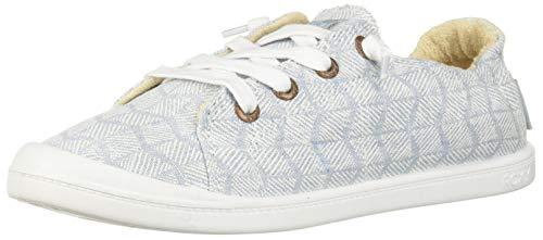 (Roxy Women's Bayshore Slip on Shoe Sneaker, Denim 7 M US)