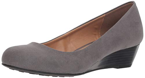 CL by Chinese Laundry Women's Marcie Wedge Pump, Charcoal Super Suede, 6 M US