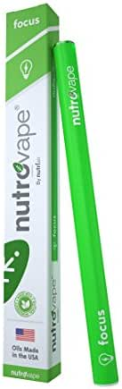 Nutrovape   World's 1st Focus Inhaler   Promotes Mental Focus & Clarity, Helps Improve Memory, Increases Cognitive Alertness   All Natural Guarana, Theobromine, Vitamin B-12 Extract (1 Pack)