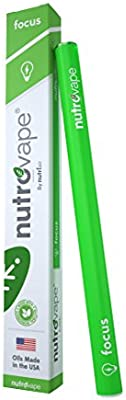 Nutrovape | World's 1st Focus Inhaler | Promotes Mental Focus & Clarity, Helps Improve Memory, Increases Cognitive Alertness | All Natural Guarana, Theobromine, Vitamin B-12 Extract (1 Pack)
