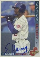 Santiago Henry Syracuse Skychiefs - Blue Jays Affiliate 1998 Grandstand Autographed Card - Minor League Card. This item comes with a certificate of authenticity from Autograph-Sports. Autographed