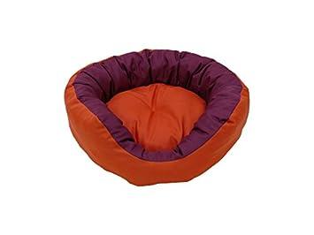 Pepe gato cama gato Cesta gato Diámetro de sofá cara 50 cm Color: Naranja &