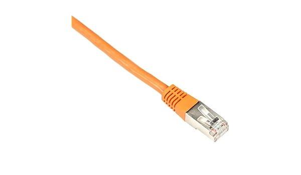Solid Backbone Cable Orange PVC 20-ft. Shielded Black Box CAT5e 350-MHz 6.0-m FTP