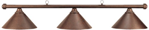 HJ Scott Billiard Table Light with Autumn Rustic Bar and Matching Shades, 55-Inch