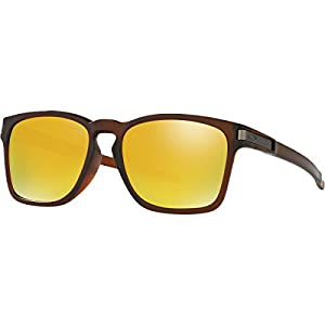 Oakley Mens Latch Square Asia Fit Sunglasses, Matte Rootbeer - 24k Iridium, One Size