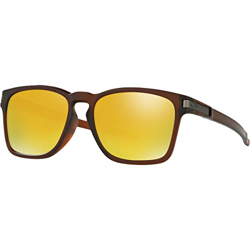 Oakley Mens Latch Square Asia Fit Sunglasses, Matte Rootbeer - 24k Iridium, One - Rootbeer Oakley