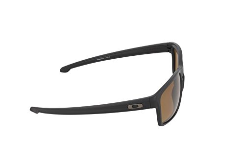 Oakley Men's Sliver OO9262-08 Polarized Rectangular Sunglasses, Matte Black, 57 mm by Oakley (Image #3)