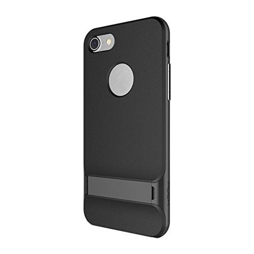 Price comparison product image iPhone 7 Case, [4.7 inch]LUNIWEI Hybrid Gold Hard Bumper Soft Rubber Hoder Case Cover Skin