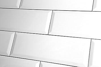 Probe Des Metro XL Weiß Glänzend Wand Fliesen X Cm Amazonde - Fliesen 10 x 30 weiß