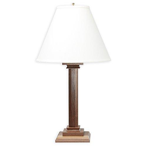 Raw Brass Table Lamp - Microsun Mission Amish Hardwood Walnut Table Lamp