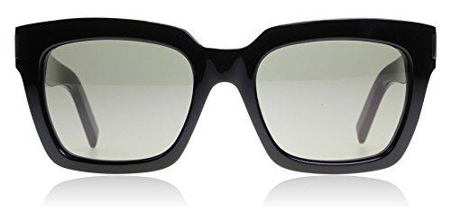 Saint Laurent Bold 1 002 Black Smoke Bold 1 Square Sunglasses Lens Category 3 - Laurent Sunglasses Bold 1 Saint
