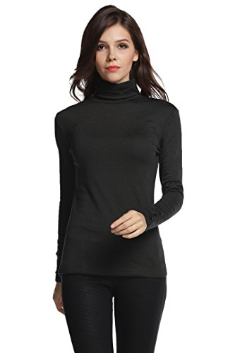 Turtleneck Shirt (Sofishie Long Sleeve Shirt With Turtle-Neck - Black - XL)