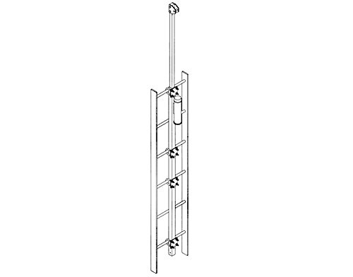 DBI/Sala - 6116336-EA - DBI-SALA Lad-SAF Galvanized Steel Extension Grab Bar - 2 in Width - 3 in Length - 49 1/2 in Height - 648250-16207