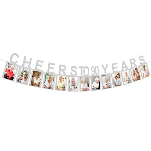 Silver Cheers to 90 Years Photo Banner