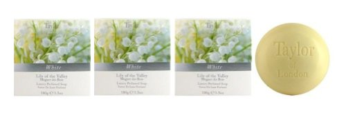 Taylor of London Lily of the Valley Fine Toilet Soap (3 -3 Oz. Bars) (London Lily)