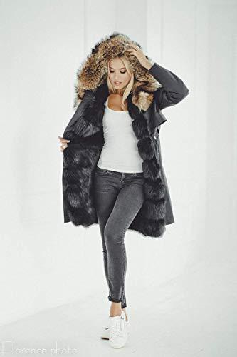 (Real Fox Fur Parka Jacket For Women)