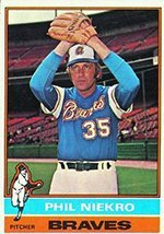 1976 Topps Regular (Baseball) Card# 435 Phil Niekro of the Atlanta Braves NrMt Condition by Topps