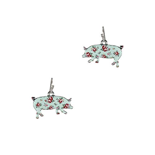 Floral Pig (Floral Pig Fashion Metal Dangle Earring)