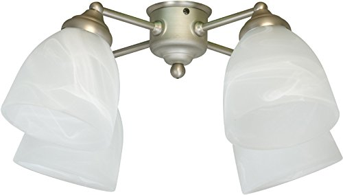 Craftmade LK401CFL-W 4 Light Universal Fan Light Kit with Alabaster Glass, White by Craftmade