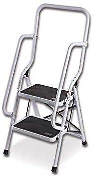 Generic * Escalera de Seguridad Profunda en Forma de S con rieles Laterales Laterales para Cocina, Dos Pasos, con Barra Lateral: Amazon.es: Electrónica