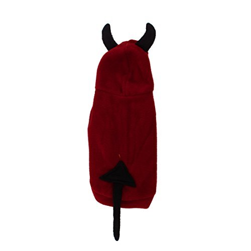 DealMux Pet Dog Puppy Devil Shaped Halloween Costume Coat XS Black Red