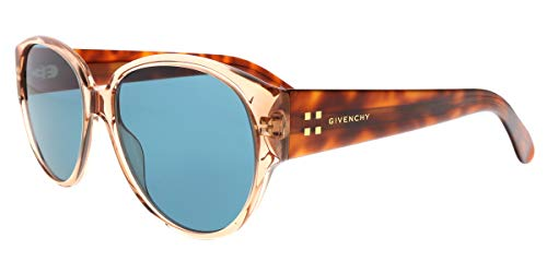 Givenchy GV 7122/S 0L7Q Brown Transparent Square Sunglasses for ()
