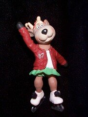 Reindeer champs 2nd in the series Dancer Ice Skater 1987 hallmark ornament