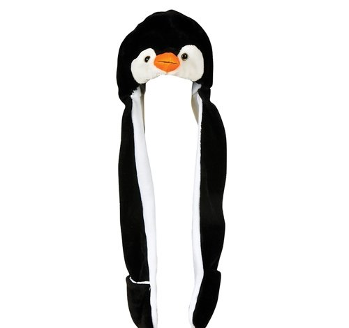 35'' PLUSH PENGUIN HAT WITH LONG PAWS, Case of 24 by DollarItemDirect