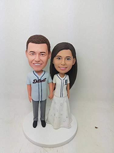 outlet store 5bce3 fe934 Amazon.com: Detroit Tigers Wedding Cake Topper Tigers Bobble ...