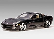 2005 Chevrolet Corvette C6 Coupe diecast model car 1:18 scale die cast by AUTOart - Black 71227 (C6 Diecast Car Model)