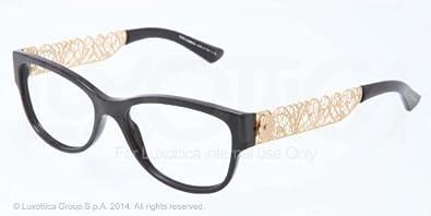 31c8ccc42281 Image Unavailable. Image not available for. Colour: New Dolce & Gabbana DG  3185 501/ Black Frame Men Women Rectangular Eyeglasses