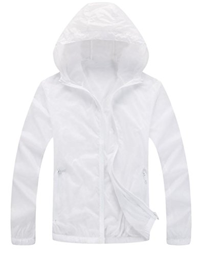 GH Men Sunscreen Thin Quick Drying Breathable Hooded Overcoa