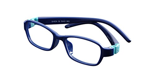De Ding Unisex Eyeglasses Kids Frames Optical Frame (Dark blue) (Unisex Frames Optical)